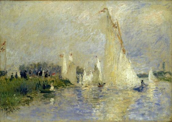 Pierre-Auguste Renoir. Regatta near Argentea