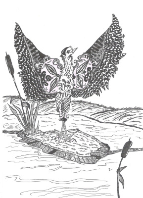 "Николай Николаевич Оларь. Series of stylized drawings, ""Birds"" (6)"