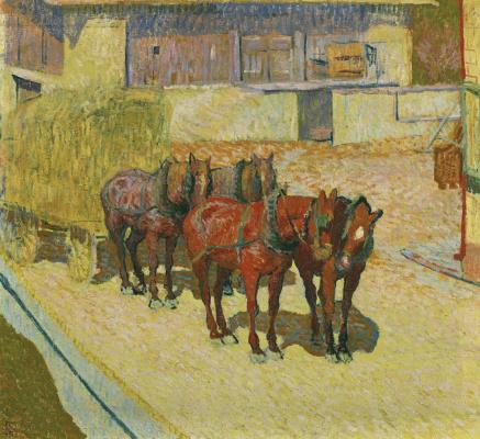 Giovanni Giacometti. Horses in the sun