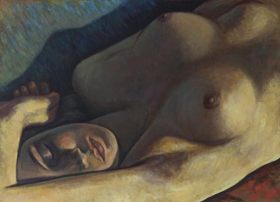 Azat Agassievich Pogosian. Femme nue dormant