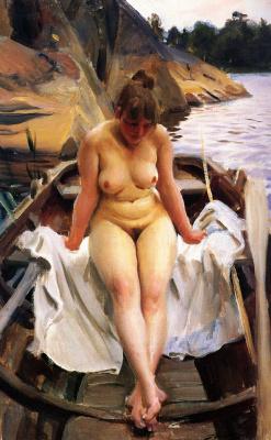 Anders Zorn. In the boat