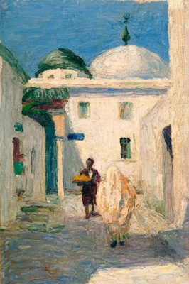 Gabriele Münter. Mosque in Tunisia