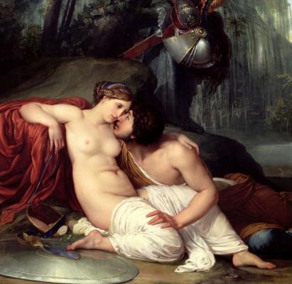 Francesco Ayets. Rinaldo and Armida. Fragment