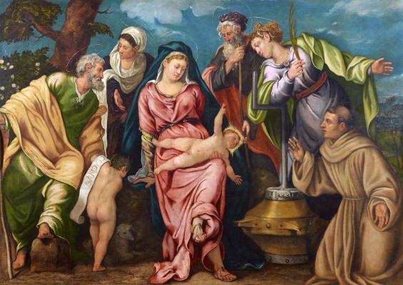 Jacopo (Robusti) Tintoretto. Holy family