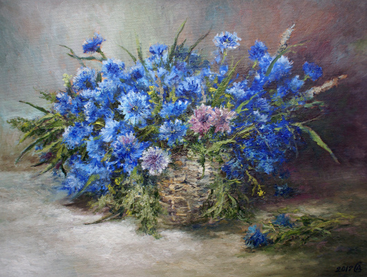 Сергей Владимирович Дорофеев. Basket with cornflowers