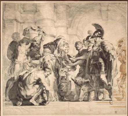 Ян Витдук. Встреча Авраама с Мелхиседеком