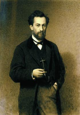 Ivan Nikolayevich Kramskoy. Portrait of the artist Mikhail Konstantin Klodt
