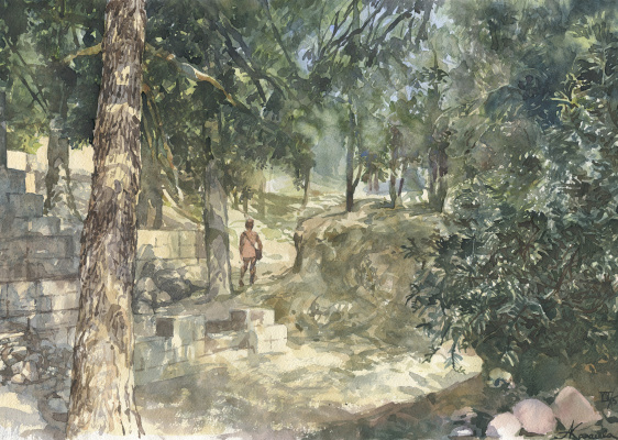 Анастасия Карасева. Крит, под стенами Кносского дворца.
