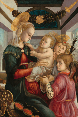 Sandro Botticelli. Madonna and child with angels