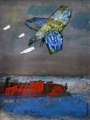 Yuri Ilich Kononenko. Bird over the boat
