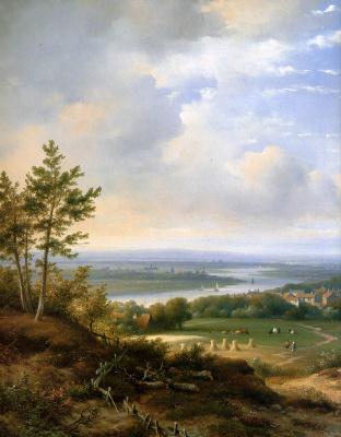 Лодевик Йоханнес Клейн. Панорамный пейзаж