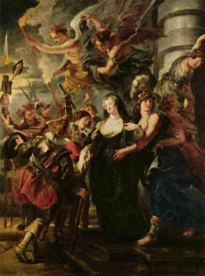 Питер Пауль Рубенс. Королева бежит из Франции