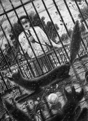 """Dmitry Nikitich Sandzhiev. IN ZOO. FROM THE SERIES """"POISONERS OF POLICE"""""""