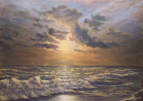 Valery Levchenko. No. 304 Sunset over the sea.