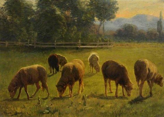 Роза Бонёр. Овцы в пейзаже