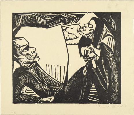 Erich Heckel. The death of a woman