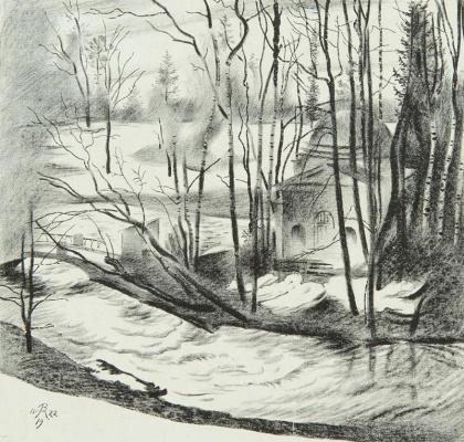 Vladimir Mikhailovich Konashevich. Pavlovsk. Cold bath