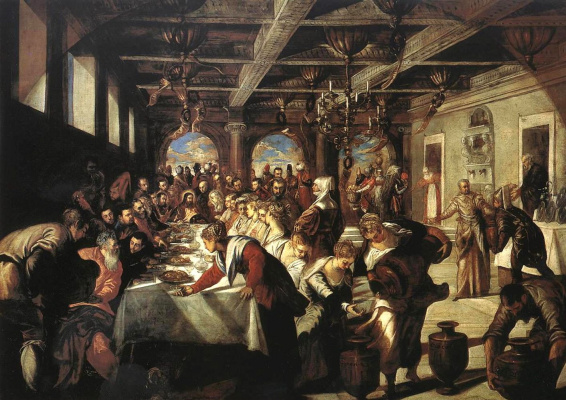 Jacopo (Robusti) Tintoretto. Marriage in Cana of Galilee