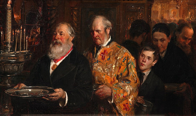 Илларион Михайлович Прянишников. Церковный староста. 1885