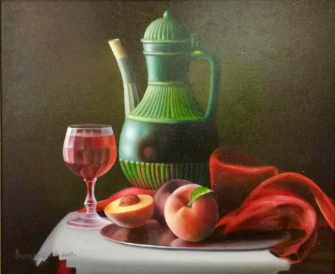 Vladislav Voronyansky. Still life with peaches