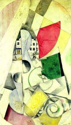 Marc Chagall. Cubist landscape