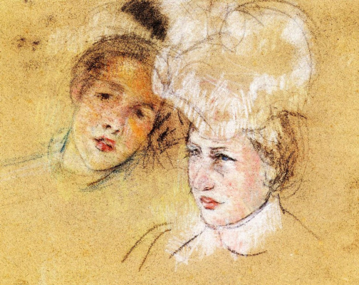 Mary Cassatt. Leontine and unknown friend