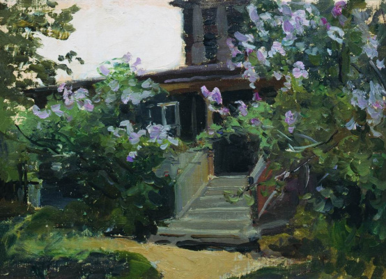 Alexey Stepanovich Stepanov. Gazebo under the flowers