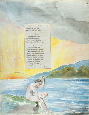 William Blake. Illustrations to the poems. The Descent Of Odin. Sheet 7