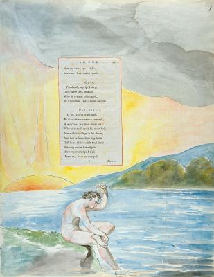 Уильям Блейк. Иллюстрации к стихам. Спуск Одина. Лист 7