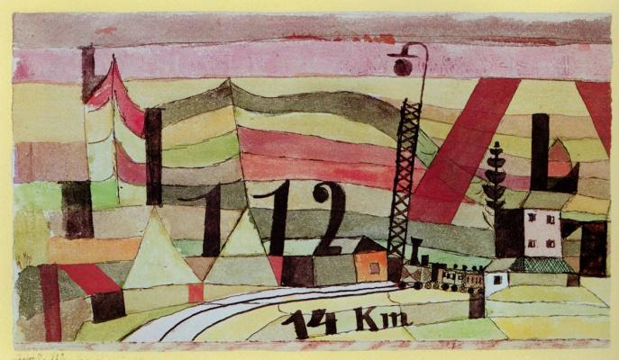 Paul Klee. Railway station