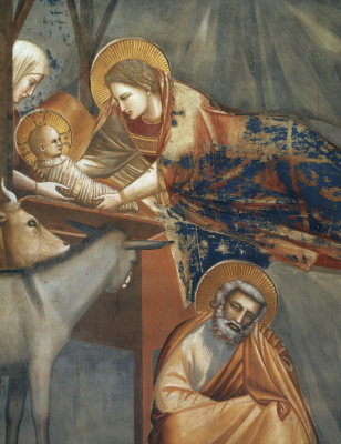 Giotto di Bondone. The Birth of Christ. Scenes from the life of Christ. Fragment