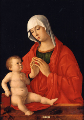Giovanni Bellini. Madonna and Child (Madonna of Wittgenstein)