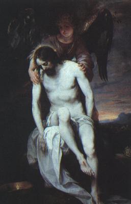 Алонсо Кано. Мертвый Христос поддерживается ангелом