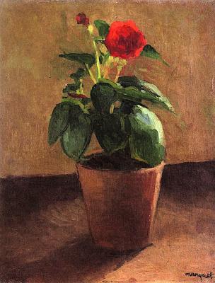 Альбер Марке. Горшок с цветком