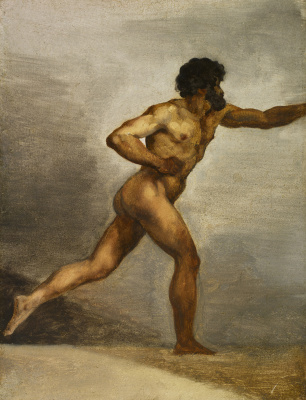Théodore Géricault. Academic sketch of a naked man
