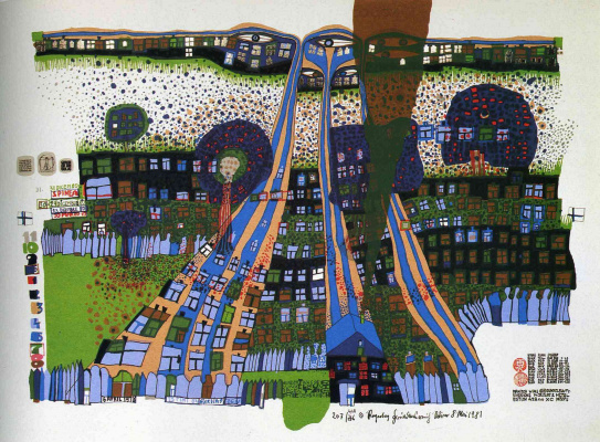 Friedensreich Hundertwasser. We will pray that Manita will win