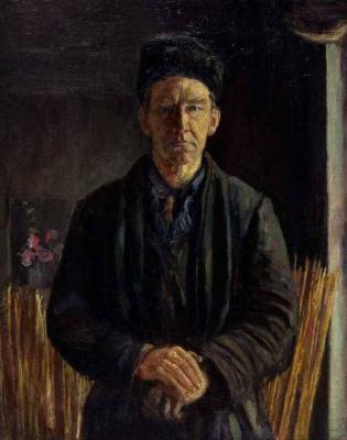 Sergey Mikhailovich Romanovich. Self portrait on a mat background