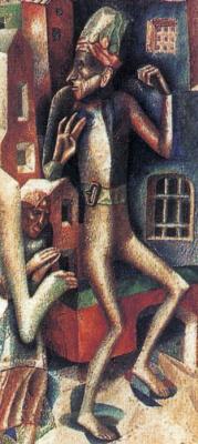 Павел Николаевич Филонов. Мужчина и женщина. Фрагмент