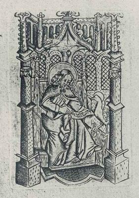 Израэль ван Мекенем Старший. Евангелист Иоанн