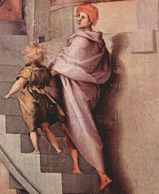 Jacopo Pontormo. Joseph and Jacob in Egypt, fragment