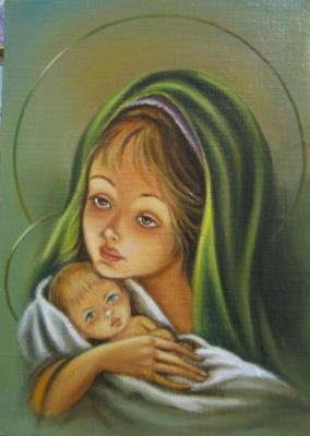 Ядвига Сенько. Дева Мария с Иисусом (холст,масло)
