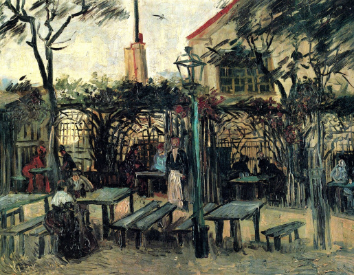 "Vincent van Gogh. Dining under the open sky ""Genett"" in Montmartre"