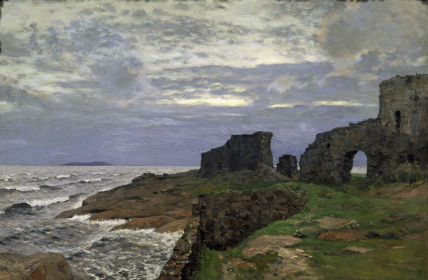 Isaac Levitan. The remains of the former. Twilight. Finland