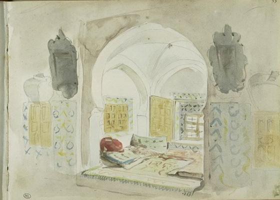 Эжен Делакруа. Мавританская комната с альковом