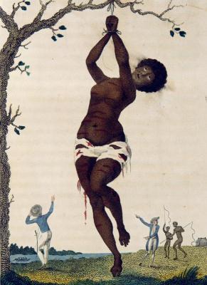 """Порка непокорной рабыни. """"Рассказ о пятилетней экспедиции против восставших негров Суринама"""""""