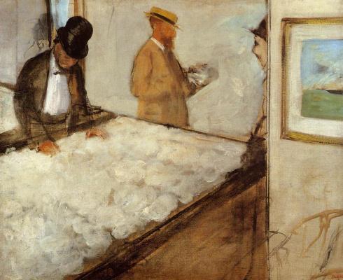 Edgar Degas. Cotton merchants in New Orleans