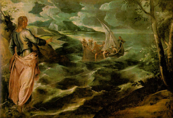Jacopo (Robusti) Tintoretto. Christ in the Sea of Galilee