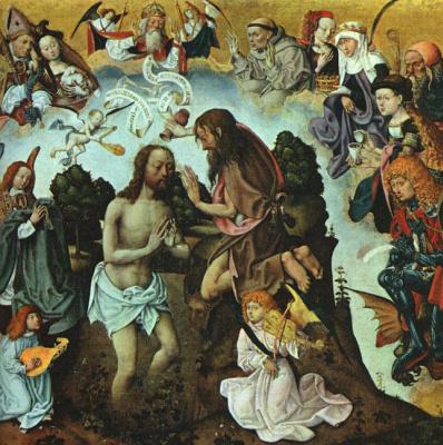 Мастер алтаря Святого Варфоломея. Крещение Христа