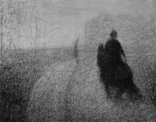 Georges Seurat. The rider on the street