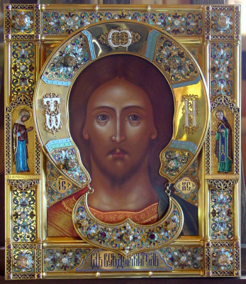 Moscow Icon Painting Workshop. Icon of Christ Pantocrator
